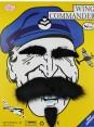 Black fake moustache set tt1106