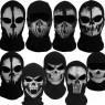 Ghost Skull Balaclava Skeleton Full Face Biker Mask