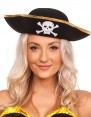 Pirate Costumes - Pirate Hat Pirates Of The Caribbean Captain Jack Sparrow PRESTIGE Buccaneer Costume Accessories 1
