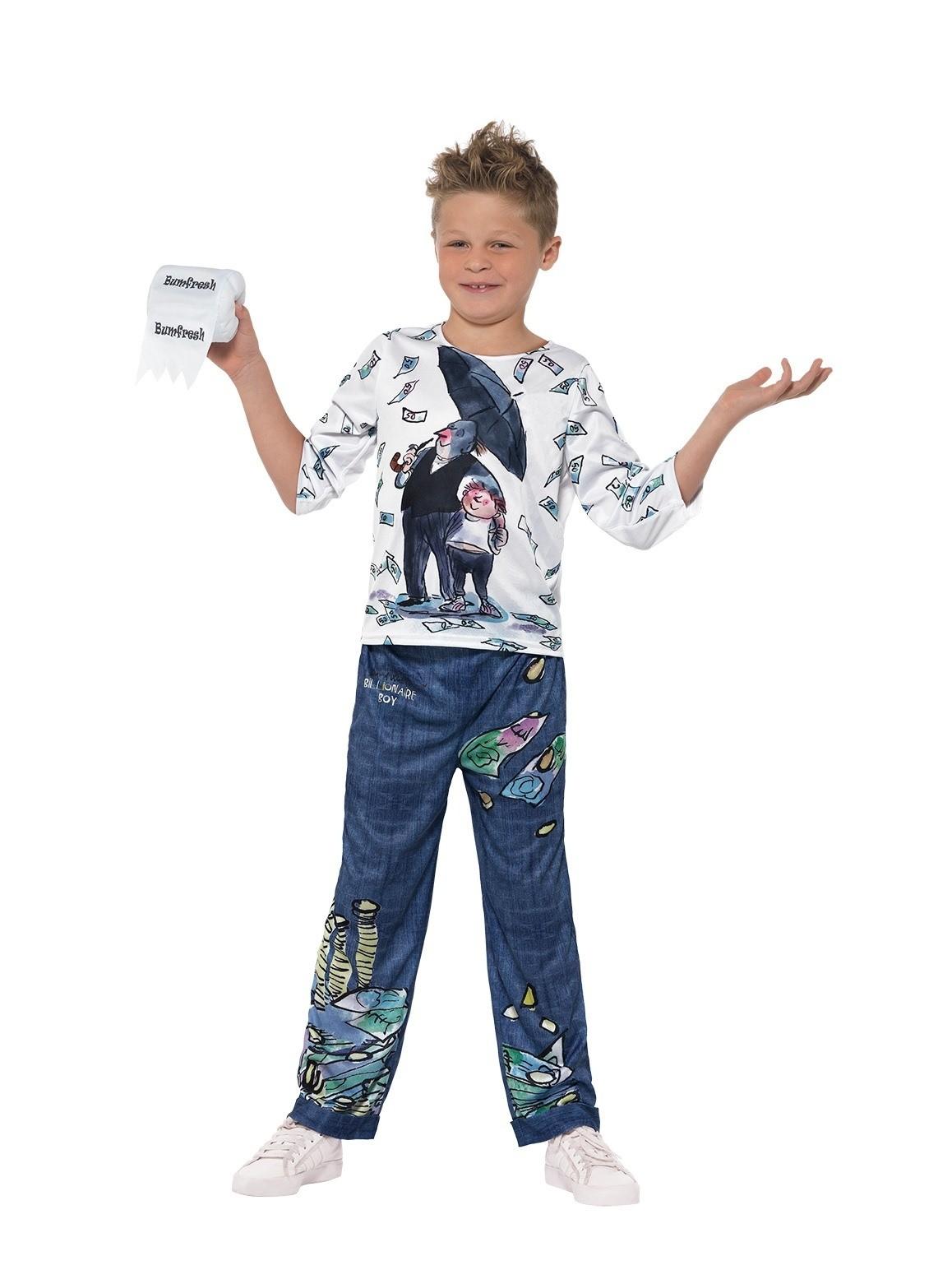 DAVID WALLIAMS COSTUME BOOK WEEK CHILDREN BOY DELUXE BILLIONAIRE BOY COSTUME