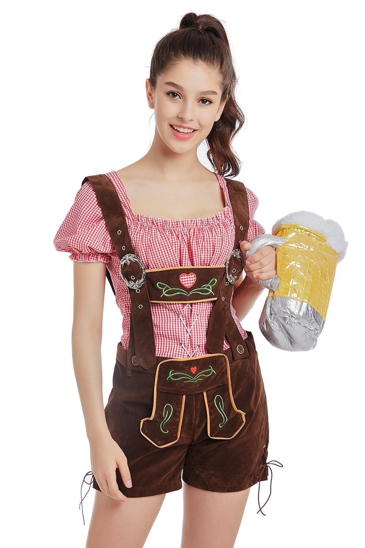 ee934ebe4f2 Ladies Oktoberfest German Bavarian Beer Maid Vintage Costume Lederhosen