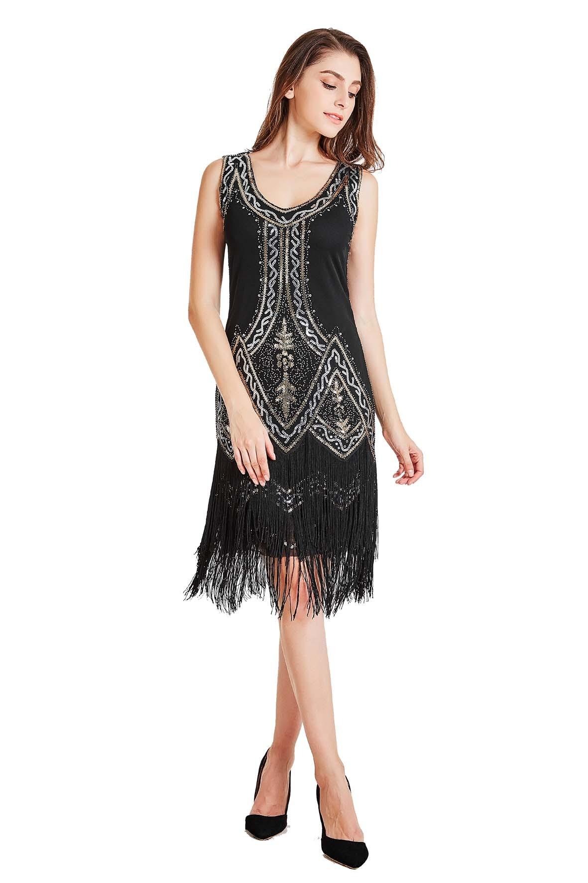 c60f9f37ad295 1920s Vintage Great Gatsby Charleston 20s Flapper Fancy Dress gatsby  gangster ladies