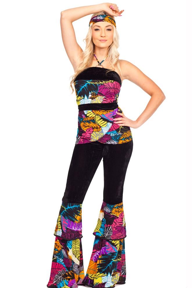 27f1a8d362 Ladies 60s 70s Retro Hippie Go Go Girl Disco Costume Hens Party Fancy Dress