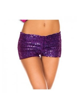Purple Sequin short Ladies