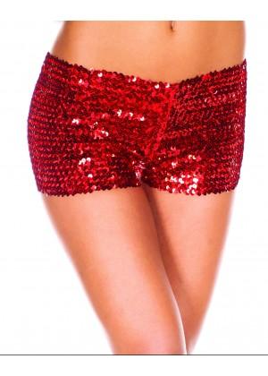 Red Sequin short Ladies