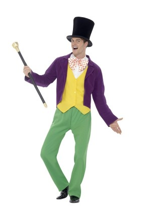 Roald Dahl Willy Wonka Factory Adult Book Week Adults Mens Fancy Dress Costume