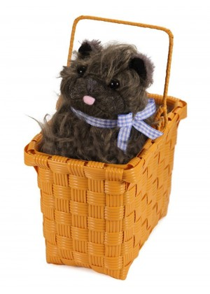 Licensed Wizard of Oz Dorothy Toto in Basket Wonders Dog Fancy Dress Halloween Costumes Accessory