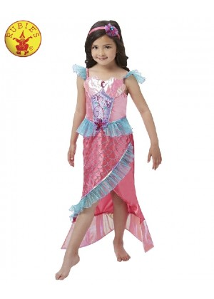 Deluxe Magical Mermaid Princess Girls Fancy Dress Kids Costume Childrens Outfit