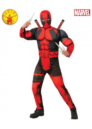 Marvel Teen Deluxe DEADPOOL Muscle Costume Licensed Rubies