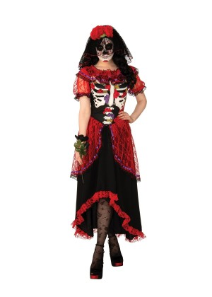 Womans Day of the Dead Costume cl700873