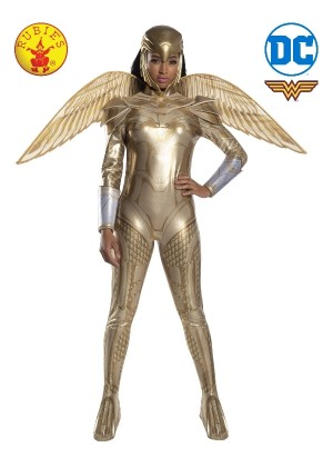 LADIES WONDER WOMAN 1984 GOLDEN ARMOUR COSTUME cl701009