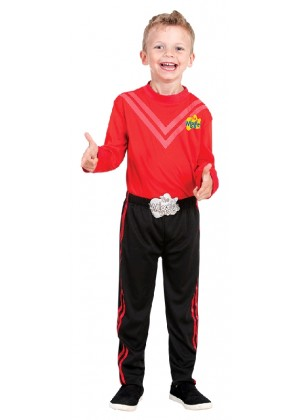 Simon Red The Wiggle Child Kids Book Week Party Dress Up Costume