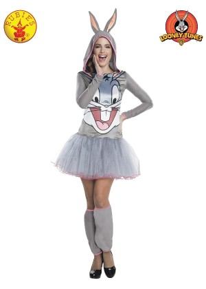 Ladies Bugs Bunny Hooded Tutu Dress cl810402