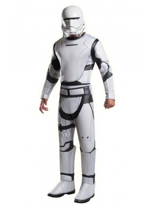 Star Wars Force Awakens Adults Deluxe Flametrooper Fancy Dress Costume