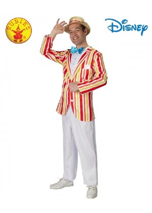 Licensed Disney Deluxe Mary Poppins Bert Holiday Fairytale Mens Costume Jolly Gentleman Victorian