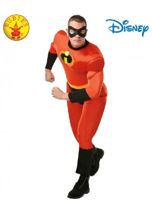 Mr Incredible 2 Deluxe Costume Adult Mens Disney Superhero Fancy Dress Outfit