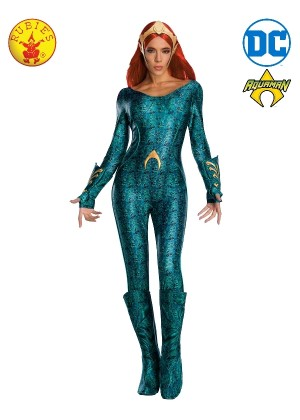 Ladies Sexy Deluxe Mera Aquaman Secret Wishes Film Hero Costume
