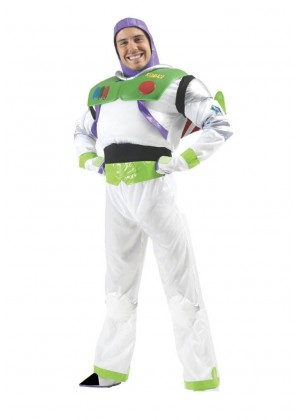 Mens Disney Toy Story Delux Buzz Lightyear Fancy Dress Costume Outfit Book Week