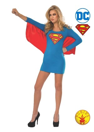Ladies Supergirl Dress With Wings Costume cl880418
