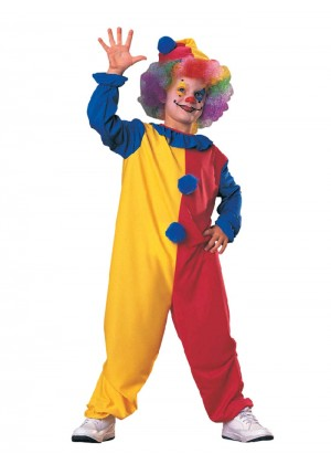 Clown Kids Jester Children Circus Boys Girls Book Week Fancy Dress Costume