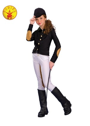 KIDS EQUESTRIAN RIDER COSTUME WITH WHIP