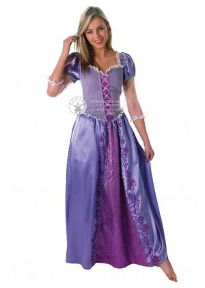Disney Tangled Rapunzel Princess Fairytale Book Week Fancy Dress Party Adult Costume
