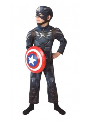 Deluxe Captain America Winter Soldiers Avengers Boys Child Party Licensed Hero Book Week Costume