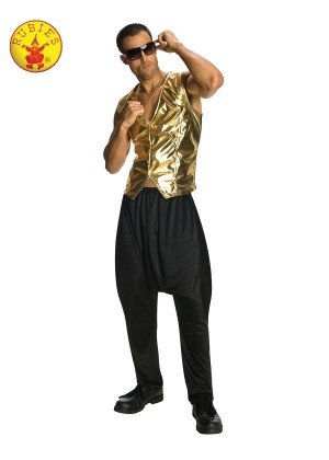 RAPPER GOLD VEST ADULT