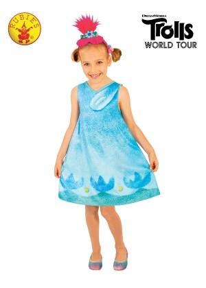 Girls Poppy Trolls Costume cl9174