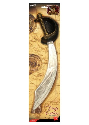 Pirate Sword and Eyepatch Halloween Smiffys Fancy Dress Party Accessories