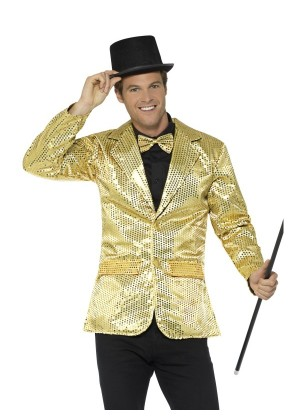 Mens Tuxedo Suit Gentleman Sequin Jacket Gold Charleston 40s Dance Coats Blazers Costume