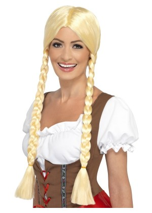 Blonde Beer Maid Schoolgirl Wigs