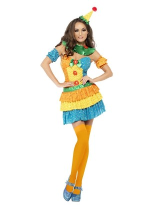 Ladies Clown Cutie Circus Costume cs24155
