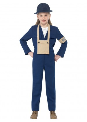 Girl Horrible Histories WWII Air Warden Costume cs27131