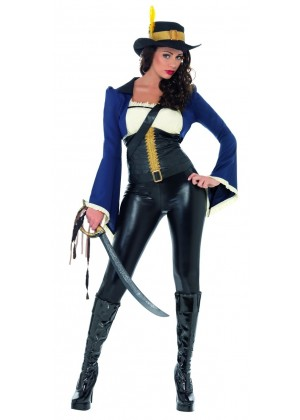 Womens Penelope Pirate Costume Fancy Dress Angelica Caribbean Outfit Ladies Sexy