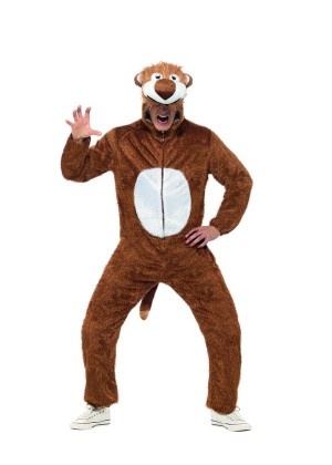 Unisex Lion Animal Onesie Adult Kigurumi Cosplay Costume Pyjamas Pajamas Sleepwear