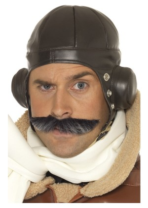 Retro Men Winter Warm Earmuff Aviator Pilot Trapper Flying Hat Cap Ski Costume Accessory