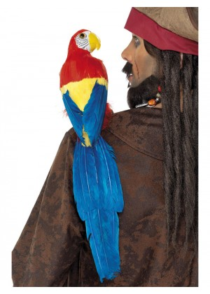 Shoulder Pirate 50cm Parrot Lifelike With Elastic Holder Smiffys Fancy Dress Costume Accessory