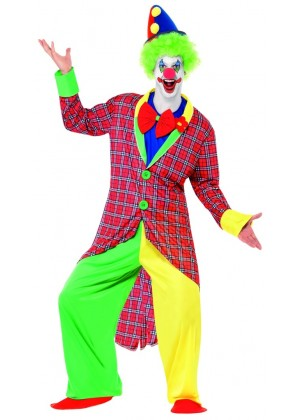 Mens La Circus Deluxe Clown Costume Adults Circus Fancy Dress Stag Party Outfit