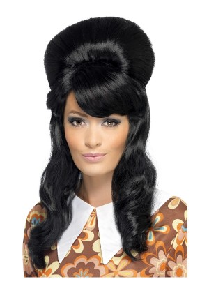 Ladies Black 60s Brigitte Bouffant Wig cs41410