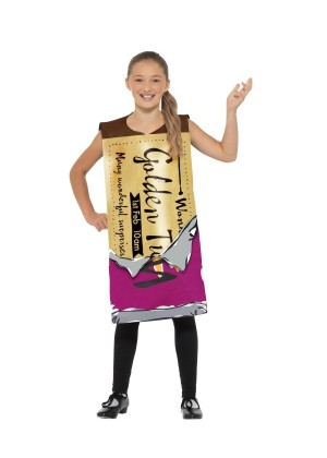 Childs  Roald Dahl Winning Wonka Bar Costume Kids Charlie Chocolate Factory Fancy Dress Book Week