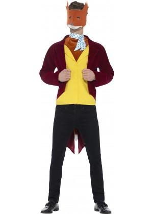 Mens Fantastic Mr Fox Roald Dahl World Book Week Fancy Dress Up Costume