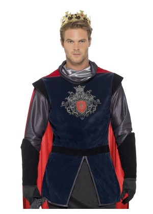 Adult King Arthur Prince Deluxe Medieval Knight Historical Fancy Dress Costume Outift