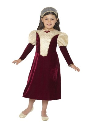 Girls Tudor Damsel Princess Costume cs44406