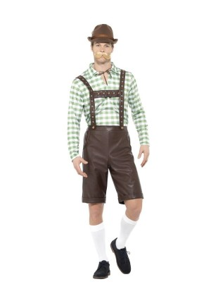 GREEN BROWN BAVARIAN MEN COSTUME cs49667