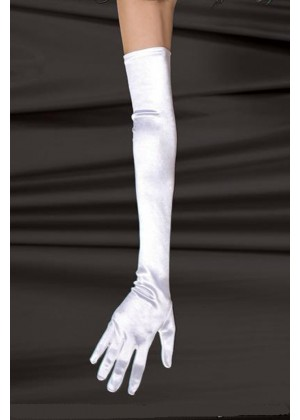 White satin Lycra Gloves