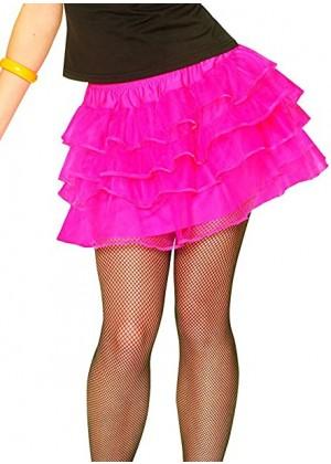 Hot Pink 80s Pettiskirt  lh186hotpink1