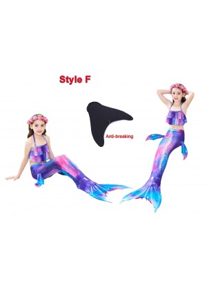 Kids Mermaid Swimmable Swimsuit Costume Monofin