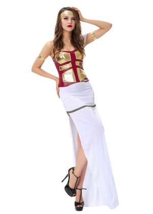 Ladies Cleopatra Roman Toga Robe Greek Goddess Fancy Dress Costume Outfits