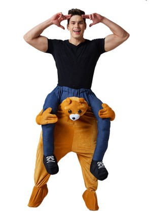 Bear Shoulder Carry Piggy Back Ride On Me Costume
